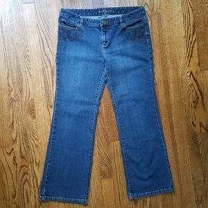 Michael Kors Embellished Bootcut Jeans 12P